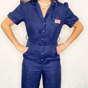 Rosie The Riveter Utility Jumpsuit Costume Amazing